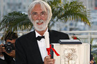 Michael Haneke with his Palm d'Or