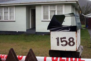 The couple's house, where they were found (Waikato Times)