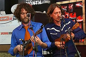 The Wellington Ukulele Orchestra were founded by Brett McKenzie from Flight Of The Conchords, among others