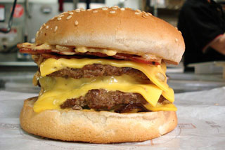 The Burger King 'Quad Stacker' contains 1000 calories and 68 grams of fat