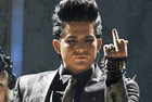 Adam Lambert during the controversial performance (Reuters)