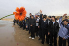 Lebanese schoolchildren throw flowers at sea in memory of victims of Ethiopian Airlines crash (Reuters)