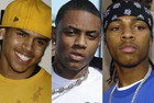 Chris Brown, Soulja Boy and Bow Wow (Reuters images)