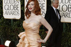 Christina Hendricks at the Golden Globes (Reuters)