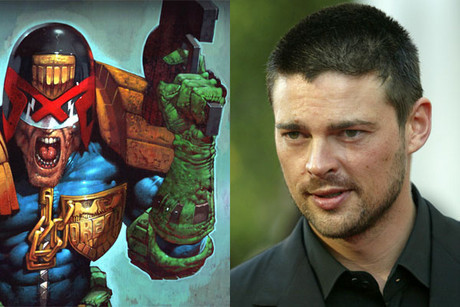 Karl Urban (Reuters) and the iconic comic book character he is set to play, Judge Dredd