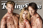 Anna Paquin, Stephen Moyer and Alexander Skarsgard on the cover of Rolling Stone