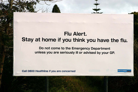 A sign seen outside Middlemore Hospital in Auckland (NZPA file)