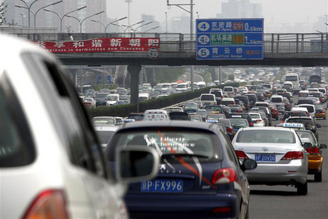 Motorists have spent nine days stuck in traffic like this (Reuters)