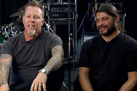 James Hetfield and Rob Trujillo