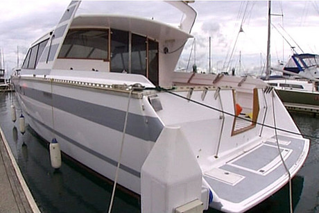 When police raided this boat they found firearms and ammunition