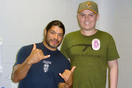 Metallica bassist Robert Trujillo and Jed Roberts