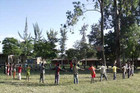 Habela Wondo Primary School. Village of Habela Wondo, rural area of Hawassa.  In this alternative space, teachers find a way to teach and to create a friendly relationship among the students.
