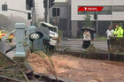 Footage from the Toowoomba flash flood