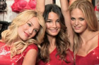 Victoria's Secret Angels Candice Swanepoel, Erin Heatherton and Lily Aldridge