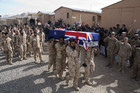Soldiers in Afghanistan held a ceremonial farewell for Private Mila (NZDF)