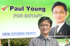 Botany by-election candidate, Paul Young of the New Citizen Party (NZPA)