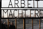 The main gate of former Nazi concentration camp of Sachsenhausen in Oranienburg (Reuters)