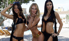 Alessandra Ambrosio, Candice Swanepoel  and Adriana Lima model the 2011 Victoria's Secret Swim collection in West Hollywood, California (Reuters)