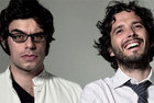Bret McKenzie (R) with bandmate Jemaine Clement