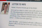 The letter addressed to MPs