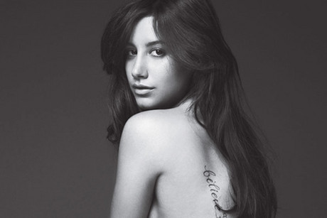 Ashley Tisdale naked in Allure Magazine (Photo by Patrick Demarchelier for Allure)
