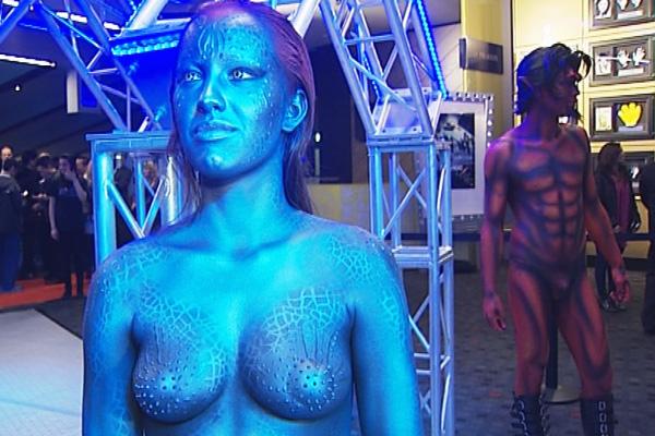 Jennifer Lawrence Mystique Makeup Process Extended XMen body paint model