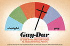 The Gay-Dar sign was ripped from its board