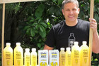Stefan Lepionka with the company's lemonade drink