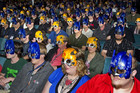 "Viewers wear ""Transformers Cine-Mark 3D Masks"" (Reuters)"
