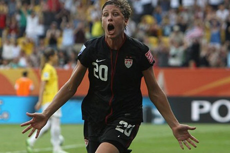 Veteran USA player Abby Wambach