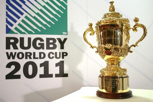 The William Webb Ellis trophy - up for grabs (one of them anyway) at this year's Rugby World Cup (Reuters)