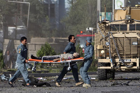 The Taliban is believed to be responsible for the attack which has left at least 3 dead (Reuters)