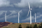 A wind farm owned by Meridian, which could soon be partly up for sale