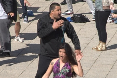 What was planned as a flash mob haka turned into a cultural spectacle for Rugby World Cup tourists