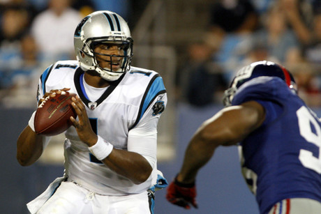 Cam Newton completed 8 of 19 passes for 134yds, 0 TDs and 0 INTs in his first pre-season appearance for the Panthers (Reuters)