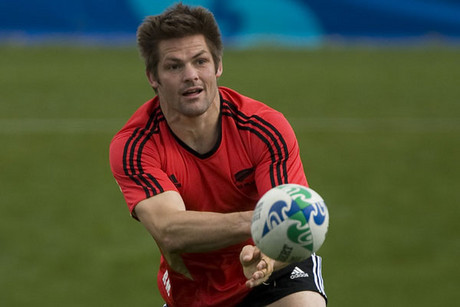 All Blacks Captain Richie McCaw training (Photosport)