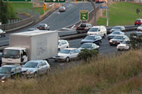 The spill is between the westbound Rosebank and Te Atatu exits