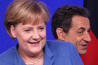 German Chancellor Angela Merkel (L) and France's President Nicolas Sarkozy (Reuters)
