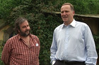 Sir Peter Jackson and Prime Minister John Key in Hobbiton