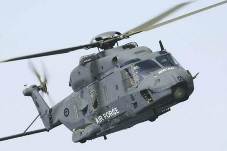 The NH90 aircraft 