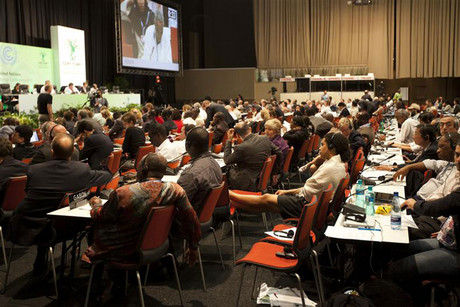 Delegates continue debating during the United Nations Climate Change Conference (Reuters)