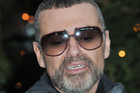 Singer George Michael appeared outside his London home (AAP)