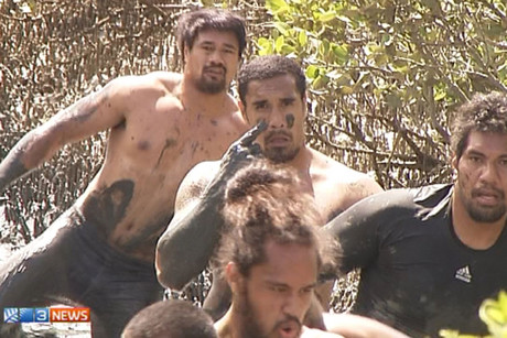 The Blues hit the mud for their annual pre-season mud run