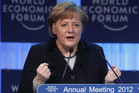 German Chancellor Angela Merkel at the Annual Meeting 2012 at the World Economic Forum (WEF) in Davos (Reuters)