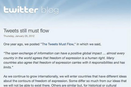 Twitter has unveiled plans to allow country-specific censorship of tweets