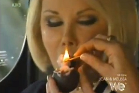 Joan Rivers smoking cannabis