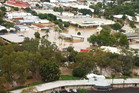 Flood waters inundating property in Moree, Northern NSW (AAP)