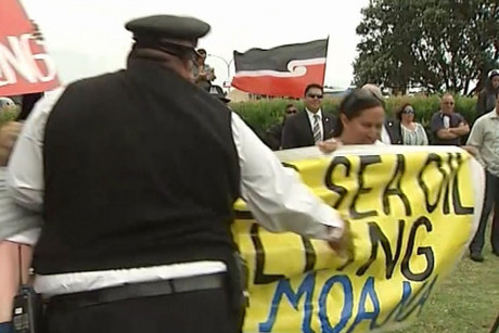 A group of 50 protesters is also positioned near the marae, which has been the site of major protests in earlier years