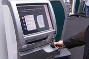 The airline is spending thirty million dollars installing advanced new kiosks and ticket readers at twenty six airports around the country