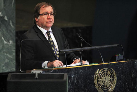 Foreign Minister Murray McCully addresses the 67th United Nations General Assembly in New York (Reuters)